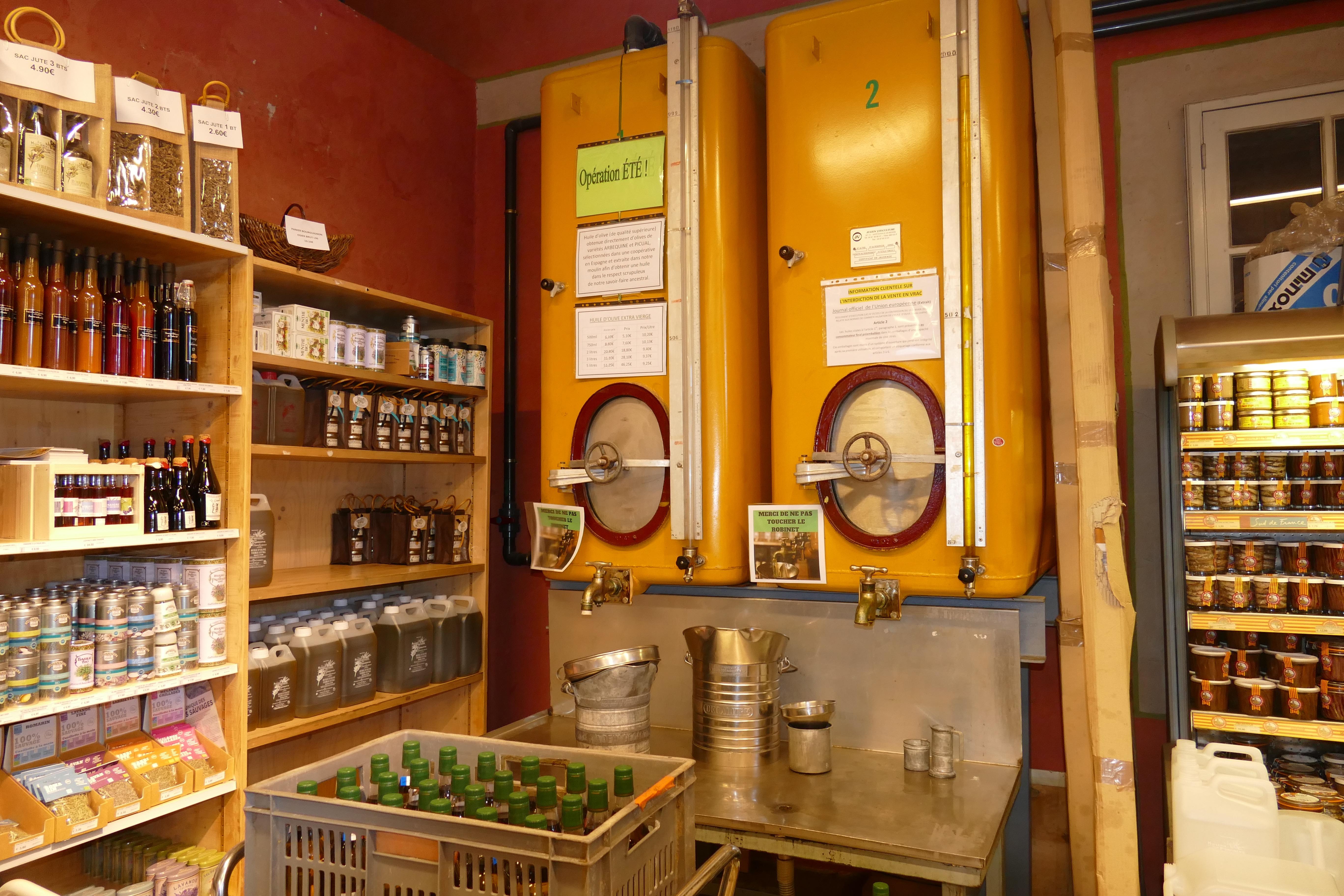 Visite de l'huilerie de Clermont l'Hérault