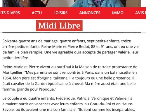 Article Midi Libre, LA SAINT VALENTIN